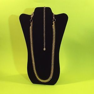 Gold Cubed Chain Necklace